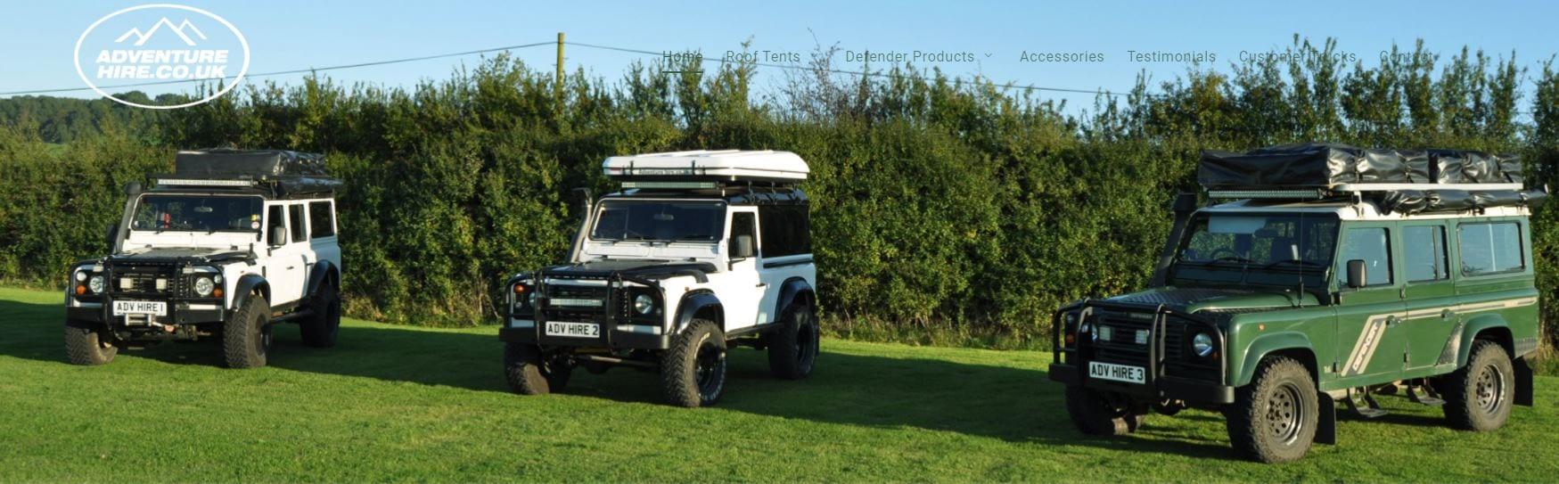 Land Rover Camper Hire